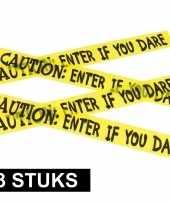 3x halloween thema markeerlint caution