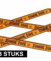3x halloween thema markeerlint zombie zone
