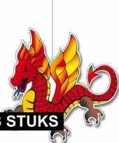 3x hangversierings chinese draken 30