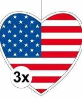 3x thema amerika hangversiering hart 28