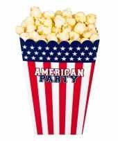 4x popcorn bakjes snoepbakjes usa amerika thema 22