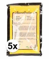 5x geel kleurpoeder 100 gram