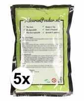 5x groene kleurpoeder 100 gram