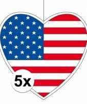 5x thema amerika hangversiering hart 28