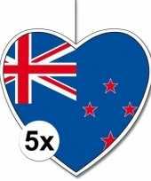 5x thema nieuw zeeland hangversiering hart 28