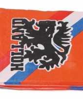 60x papieren servetjes oranje supporters leeuwen leeuwinnen thema feestartikelen 33 33