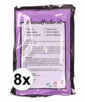 8x paars kleurpoeder 100 gram