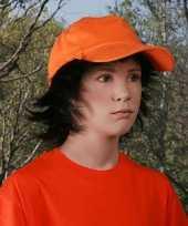 Baseballcap kinderen oranje