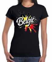 Belgie t-shirt spetter zwart dames