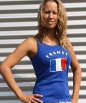 Blauw dames shirtje franse vlag