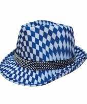 Blauw wit oktoberfest hoedje