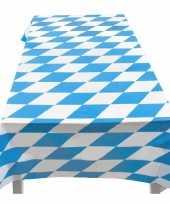 Blauw wit tafelkleed 130 180
