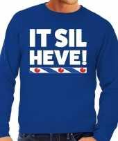 Blauwe trui sweater friesland it sil heve heren