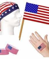 Fan artikelen set amerika thema volwassenen