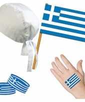 Fan artikelen set griekenland thema volwassenen