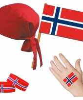 Fan artikelen set norwegen thema volwassenen