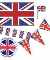 Feestartikelen groot brittannie versiering pakket