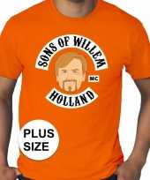 Grote maten sons of willem oranje shirt heren