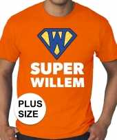 Grote maten super willem oranje shirt heren