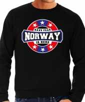 Have fear norway is here noorwegen supporter sweater zwart heren