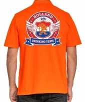 Holland drinking team poloshirt oranje heren