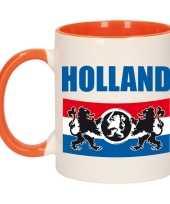 Holland vlag leeuw mok beker oranje wit 300 ml