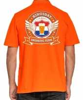Kingsday drinking team poloshirt oranje heren
