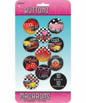 Klassieke rock and roll buttons 10 stuks