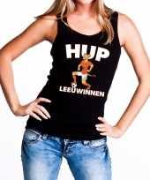 Nederland supporter tanktop hup leeuwinnen zwart dames