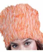 Oranje bontmuts pluche