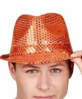 Oranje hoedje glinsterend