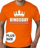 Oranje koningsdag kingsday kroon grote maten shirt heren
