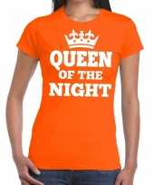 Oranje queen of the night shirt dames