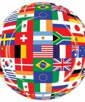 Party bordjes wereld vlaggen