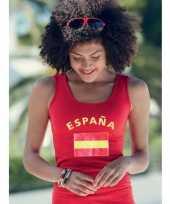 Rood dames shirtje spaanse vlag