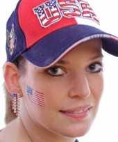 Set 8x stuks landen vlag tattoo amerika 2 6 4 5