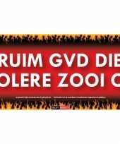 Sticky devil stickers tekst ruim gvd die kolere zooi op