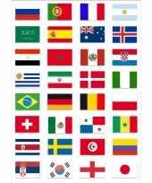 Wereld kampioenschap voetbal 2018 vlag pakket gekwalificeerde landen