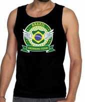 Zwart brazil drinking team tanktop mouwloos shirt heren