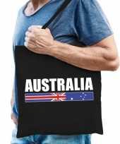 Zwarte katoenen australie tas australia