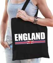 Zwarte katoenen engeland tas england
