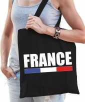 Zwarte katoenen frankrijk tas france