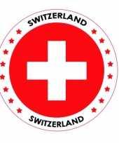 Zwitserland vlag bierviltjes